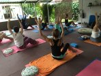 yoga classes Monday ,Wednesday Friday and Saturday 9;00 AM