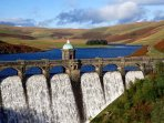 One of the spectacular Elan valley dams.