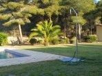 garden with vieuw on the montain