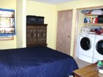 Bedroom #2 with Washer and Drier