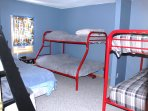 Bedroom #4 with Queen, two Buck beds , one with full bed on the bottom