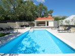 Villa Škura - private pool 32m2 and fully equipped summer kitchen with BBQ & TV
