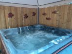 Relax and warm yourself in a soothing hot tub