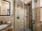 Close-up of shower