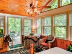 Addition off the Master bedroom with French doors and great views of the lake across the street!