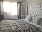 King bed. Bedroom