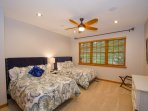 Bedroom #2 - Two Full Sized Beds (sleeps 4) / HDTV with TiVO