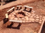 Outdoor fire pit to enjoy incredible starlit nights