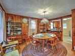 Gather with loved ones around this darling dining room table to begin planning your exciting adventures!