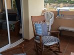 2 rocking chairs on terrace
