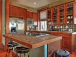 This bright kitchen comes stocked with top-of-the-line cooking appliances