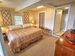 There are three bedrooms in this spacious cabin.Here is a full bed in the third bedroom!