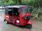 Transport options at RVR - the tuk tuk seats 3 adults