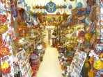 A very colourful china shop in Chania Market