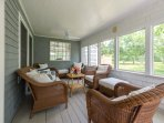 Screened Porch off of Kitchen and Living Room