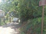Chemin d'accès à la Résidence depuis la route de timone à Moriani-Plage