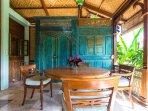 Villa: Dining table on the veranda.
