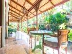 Villa: Side veranda gardens.