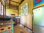 Villa: Kitchen, where our staff will cook for you.