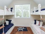 2nd Floor Guest Bunk Bedroom w/ Total of 5 Twins
