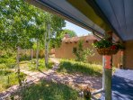 Outdoor space at Prado with BBQ grill, outdoor seating and Aspen grove