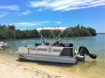 We offer this pontoon-boat for rent, too