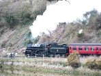 The view of the steam train from our lounge