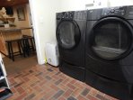Full laundry room to yourself.  Large capacity front loading washer and dryer.