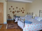 Bedroom No.3 (Petit Chapeaux) 1 Double and a 3/4 Victorian Iron Bedstead