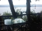 Table for breakfast, lunch and dinner with stunning lake views