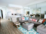 Newly Upgraded Flooring and Furniture provides a Beach Experience with Luxury