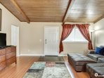 Beautiful wood vaulted ceiling and spacious living room