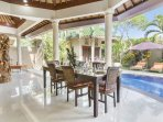 Dining Area with a nice view of the pool