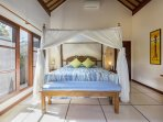 Bedroom 1 with King Sized Balinese style bed