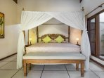 Bedroom 2 with King Size Balinese style bed
