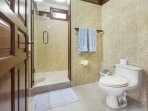 The Bungalow en-suite bathroom with big shower room but no bath