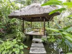 In the centre of the beautiful tropical gardens of Bali Firefly where breakfast can be served