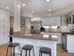 Kitchen island with extra seating