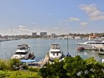 The quieter side of the Peninsula is the harbor where small & large boats visit