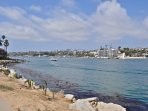 Just across the bay is the village of Corona Del Mar