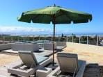 The upper sundeck  is a wonderful area for tanning and enjoying the fantastic vistas.