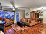 Warm and inviting living room is ready for everyone