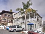 Front view of our San Clemente Pier bowl condos.