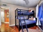 2nd floor bunk bedroom. Twin and Full sleeps 3.