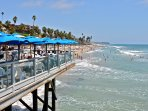 Dine over the water at Fisherman's Restaurant at the pier.