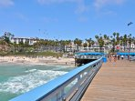 Walk on the historic San Clemente pier!