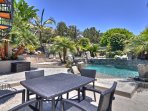 Large pool, dining, lounging, BBQ and entertainment paradise.