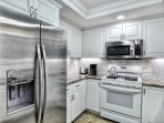 Having a full kitchen makes your vacation home really feel like home!