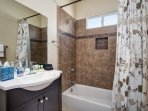 Second bathroom with shower/tub combination