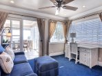 Second Master has access to top sitting room and deck